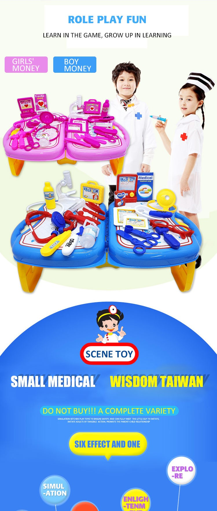 Hot Selling Plastic Doctor Toy Baby Toys