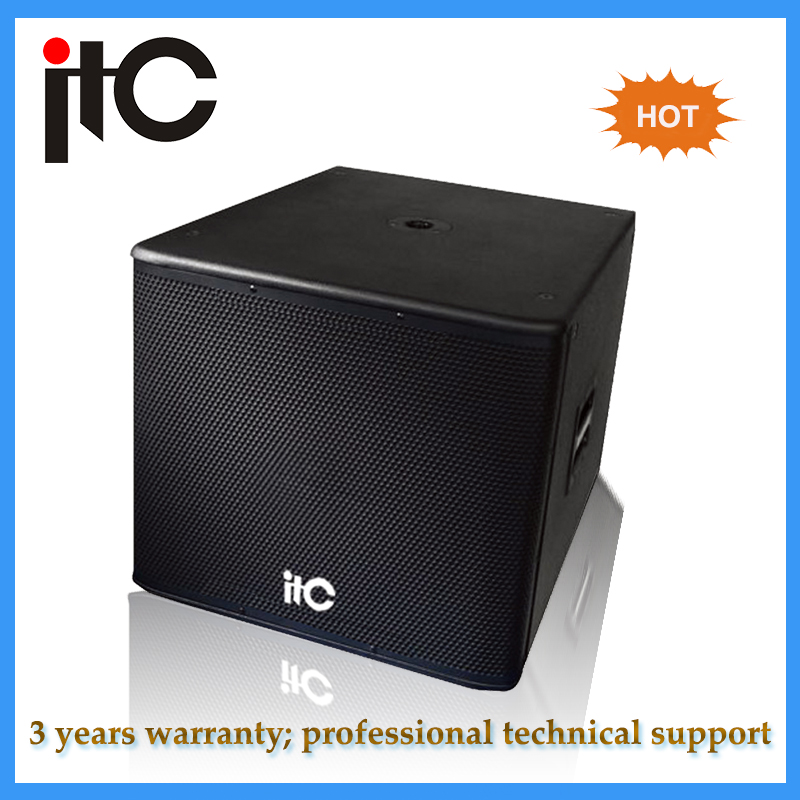 "Professional dual 18"" subwoofer speaker box for sound system"