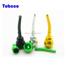 Manufacturer wholesale colorful calabash design shape aluminum Long Smoke Pipe Smoking Accessory