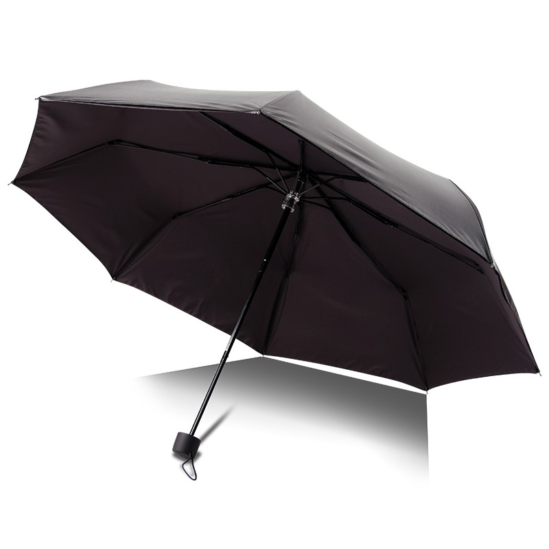 UV 50+ Black coating 3 fplding sun umbrella