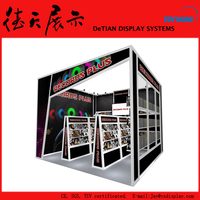 4x4 20x20 Cool Black New Design Magzine Exhibition Display Booth