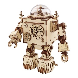 Robotime Steampunk wooden music box Orpheus stem educational toys