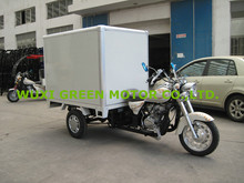 cargo tricycle with cabin for advertising outdoor