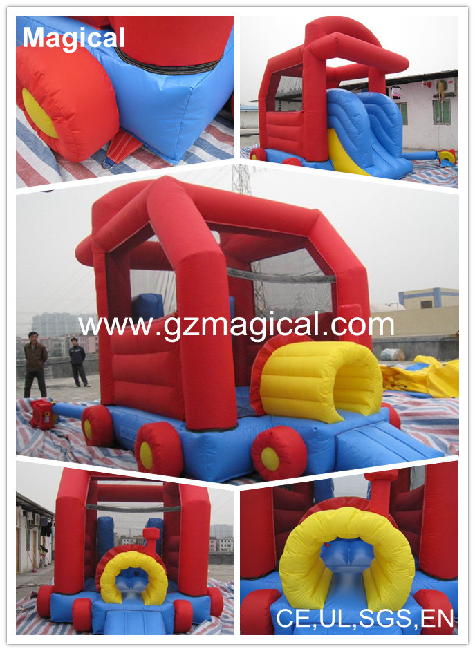 mini car jumping inflatable toy, fashion inflatable bouncer for kids