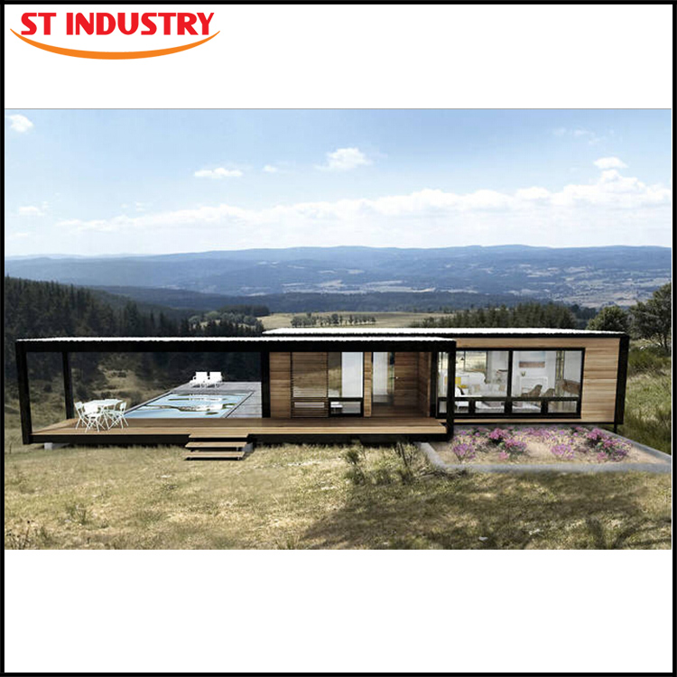 Economical Residential Steel structure prefabricated 40 feet container house