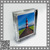 standing clear magnetic acrylic photo frame