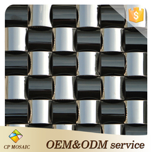 Foshan Factory wholesale Price 3D Design Metal Mosaic Tile For Kitchen Backsplash