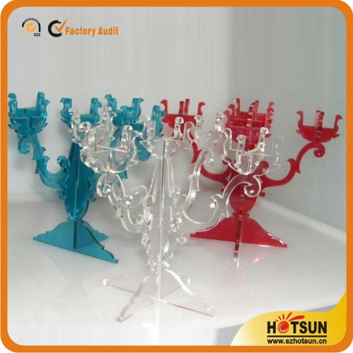 Professional factory supply high quality clear acrylic candelabras