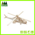 Kids educational DIY puzzle toys 3D Wooden Airplane shaped Puzzle model