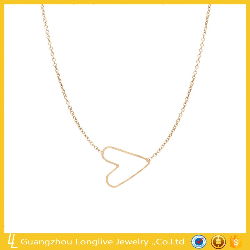 Longlive Jewelry 14k gole plated tiny hammered heart choker necklace
