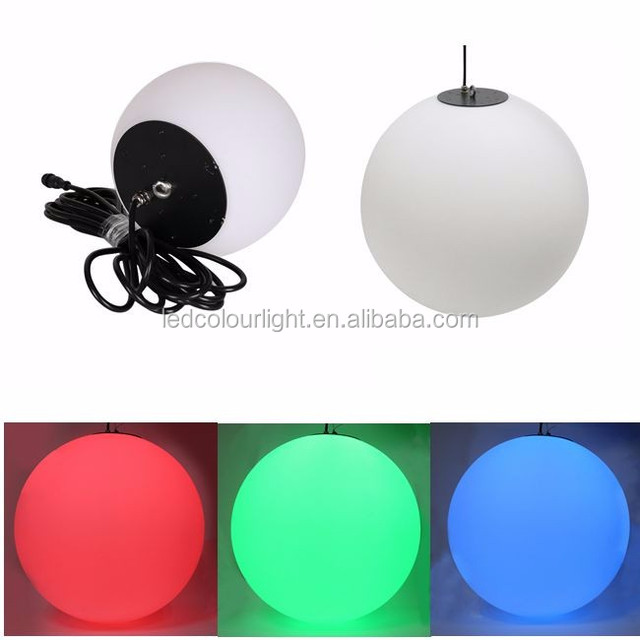 IP65 rgb pendant decorative DMX 3d led hanging ball light for christmas nightclub,bar,ktv,DJ
