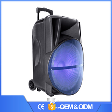 2017 hot new products bluetooth speaker with fm radio Woofer and colorful LED lights fashion bluetooth speaker