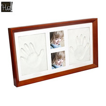 Baby Handprint and Footprint Clay Casting Kit with Picture Photo Frame Best Baby Shower gifts