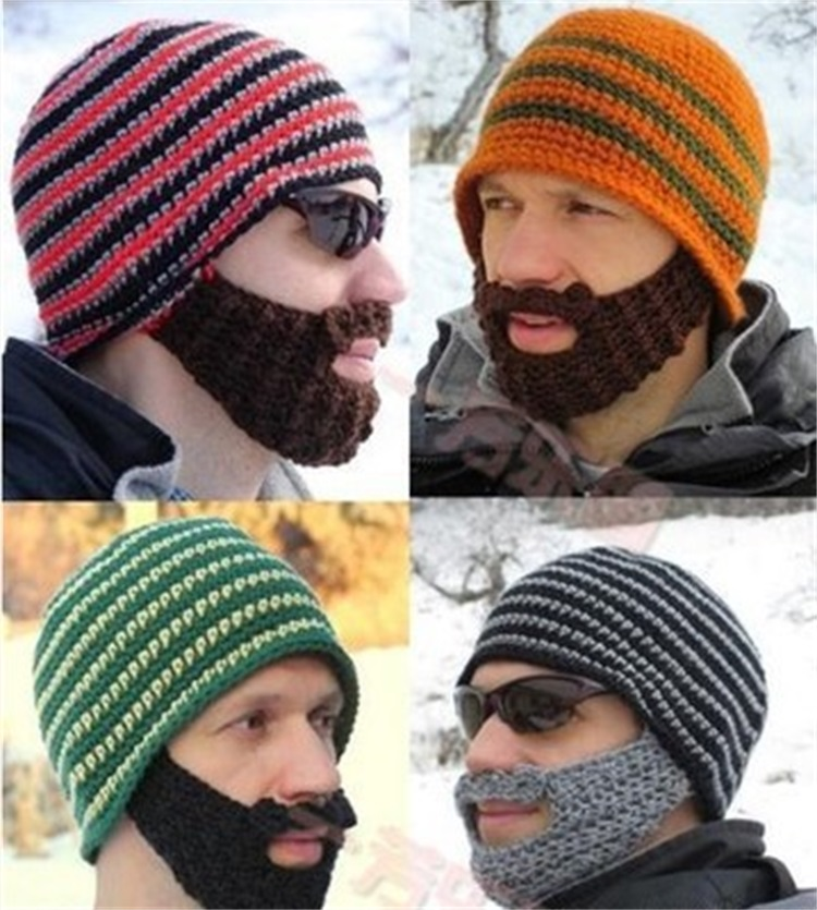 Originality Hand Made Winter Earmuffs Beard Mask Keep Warm Beanie Hat