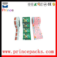 Aluminum foil Washing Liquid Shampoo Sachets Packing Biodegradable Food Plastic Packaging Film