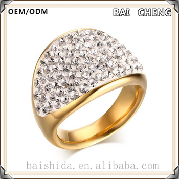 Wholesale Stainless steel ring new gold ring models gold plated silver ring