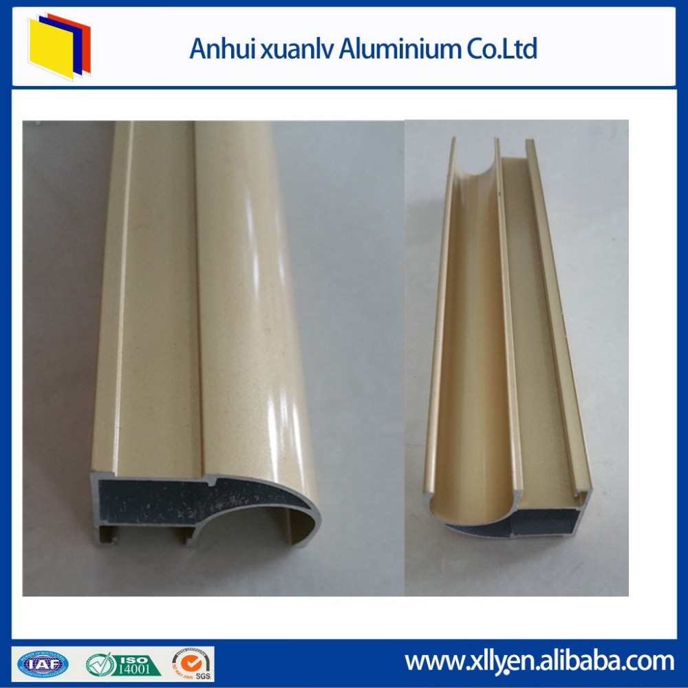 Quick lead time Anodized Mill finish Extrusion aluminum profile to make window and door
