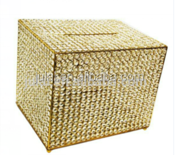 Gold crystal wedding money box , wedding hidden money box in Foshan