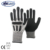 NMSAFETY cut resistant level 5 liner with TPR chips anti-impact mechanic gloves