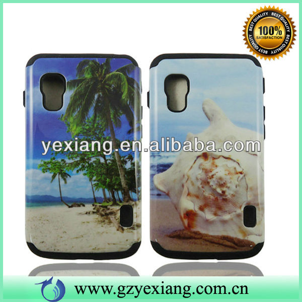Mobile Phone Back Hybrid Cover,Case For LG Optimus L5 ii E450/E460
