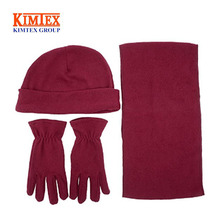 Hat Scarf Glove Women's Winter Set