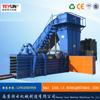 Automatic horizontal paper waste compress baler machine
