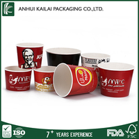 Disposable take away paper fried chicken bucket / box