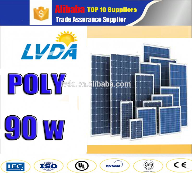 2017 Hot sale! 90w polycrystalline PV solar panel with cheap price