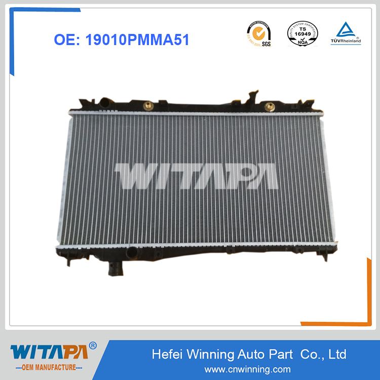 OEM 19010PMMA51 Radiator For Honda From Manufacture With Genuine Quality