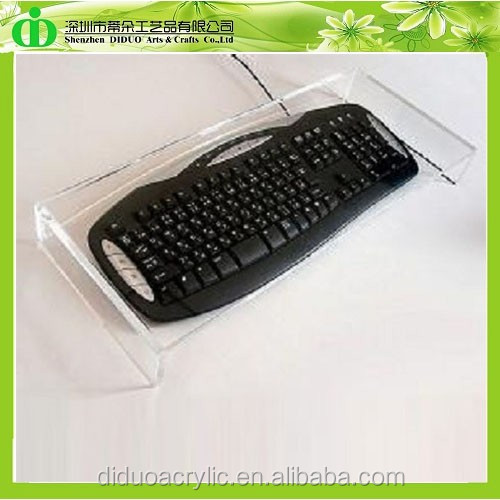 DDI-M0061 Trade Assurance Chinese Factory Wholesale SGS Test Clear Acrylic Computer Keyboard Stand