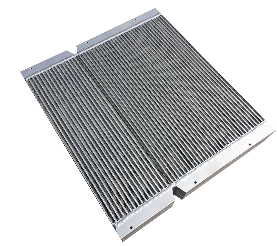Tractor oil cooler radiator for agricultural machinery