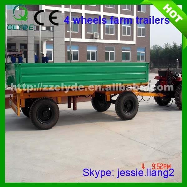 Good quanlity 4 wheels trailer tractor with axle for agricultural tractor