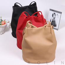 2018 New Arrival Large Capacity Practical Fashionable PU leather Bucket Bag Shoulder Bag Tote Bag for Ladies
