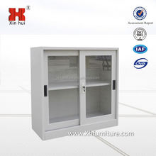 Modern office furniture small sliding glass door display cabinet