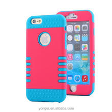 Dual Colors PC TPU Shockproof Case For iphone 6