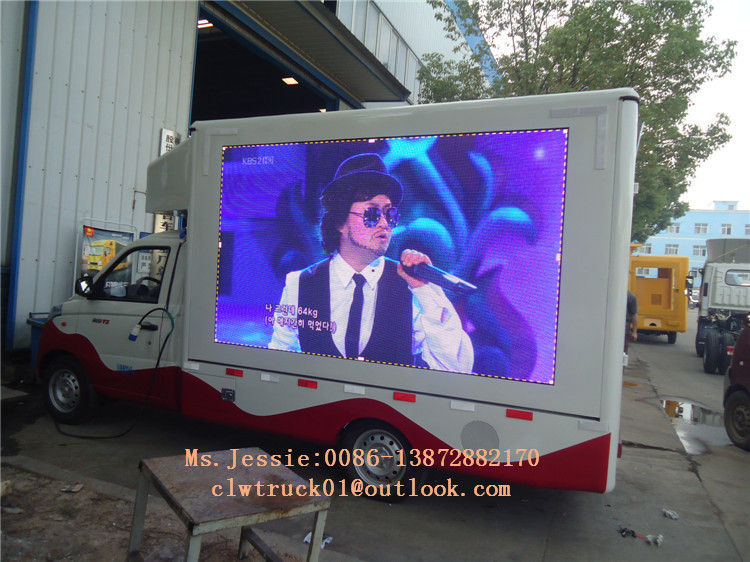 Lifting led screen stage advertising truck ,digital billboard publicity truck on sale