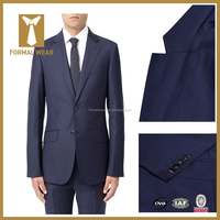 Dark Blue Slim Fit Wedding Occasion Custom Made Suits for Men