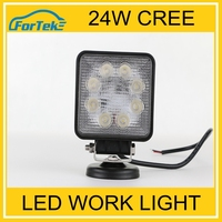 Spare Parts Car 24W Cree Led Work Light For Trucks