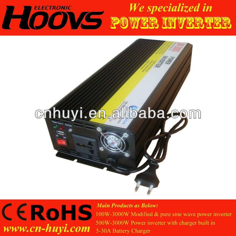 3000W dc to ac power inverter with battery charger