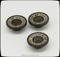 contrast tin zinc alloy buttons for trousers, jeans / jacket metal buttons