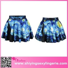 Cheap Wholesale Starry Sky Print Adult Mini Skirt gothic clothing