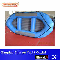 12ft inflatable floor fishing plastic rowing boat for sale with CE