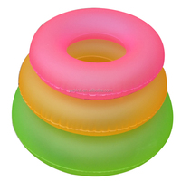 Fluorescent color adult swimming tube different sizes swim ring with logo