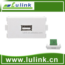 USB wall plate/USB Module,Using General 4 cores cable or network cable