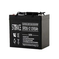 12v 55ah Rechargeable Storage MF deep cycle battery