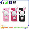 pink lovely rabbit silicone phone cover