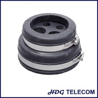 4'' cable entry boots, 2 hose clamp type,EPDM rubber boot