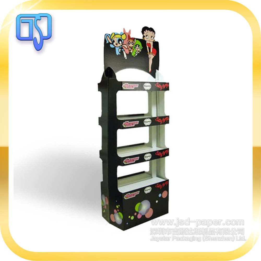 100% recycled innovative custom made easy assembled paperboard display rack