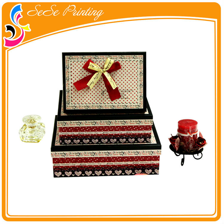 Good quality standard packing box sizes empty memory box