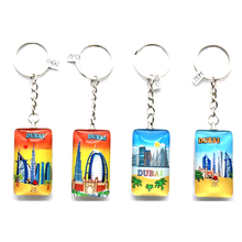 custom glass double stick promotional metal keychains